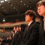 希望に満ちあふれた大学生活がスタート、入学おめでとうございます!!