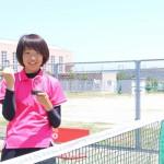下越オープンテニス選手権大会で、五十嵐さん優勝!