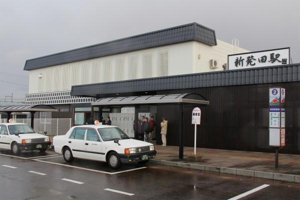 「なまこ壁」にリニューアルされた新発田駅