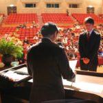 石坂浩二氏と新潟文学散歩「阿賀北ロマン賞授賞式」を開催