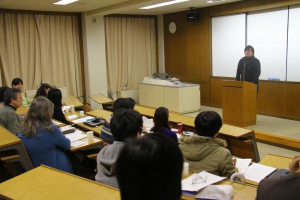 卒業論文発表会の様子