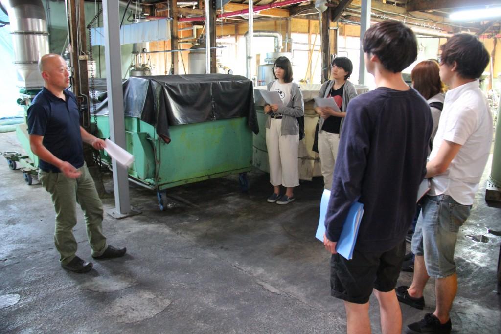 金升酒造様、酒造りの工程を確認(6月12日)