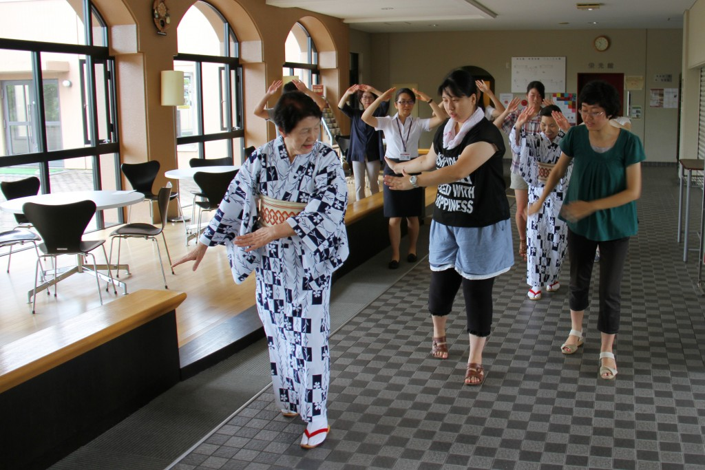 新発田まつりの民謡流し練習中