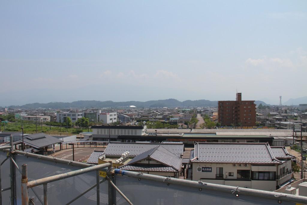 学生寮、屋上からの眺め