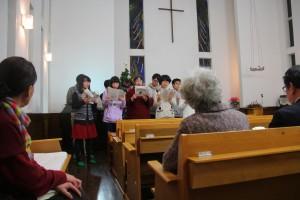 最後の訪問地、新発田教会にて
