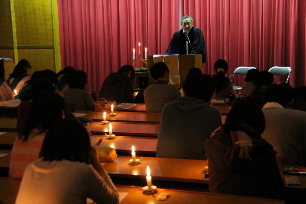 下田尾治郎宗教部長のクリスマスメッセージ「クリスマスの挑戦」