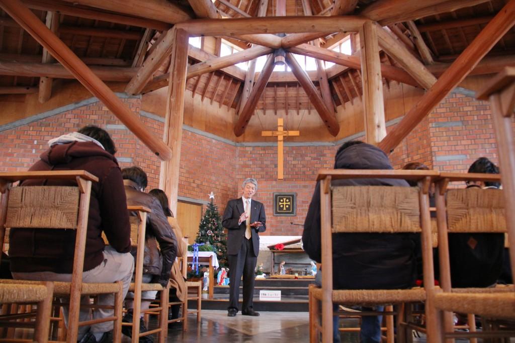 新発田建設さまが建築した「新発田カトリック教会」でお話を伺う