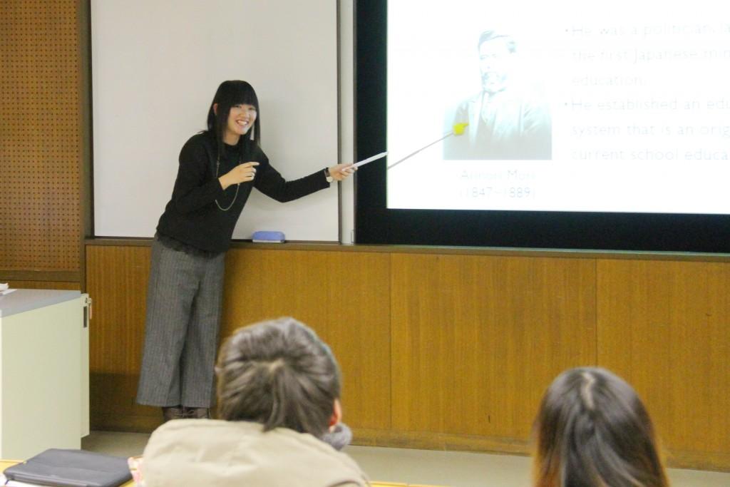 河内さんの卒業論文発表