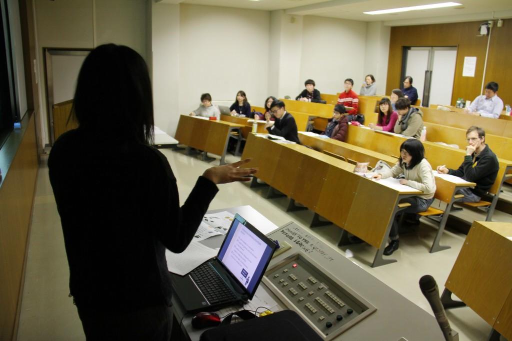 卒業論文発表会 会場の様子