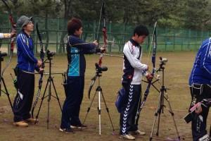 国体予選の様子(左から2番目が中村さん)