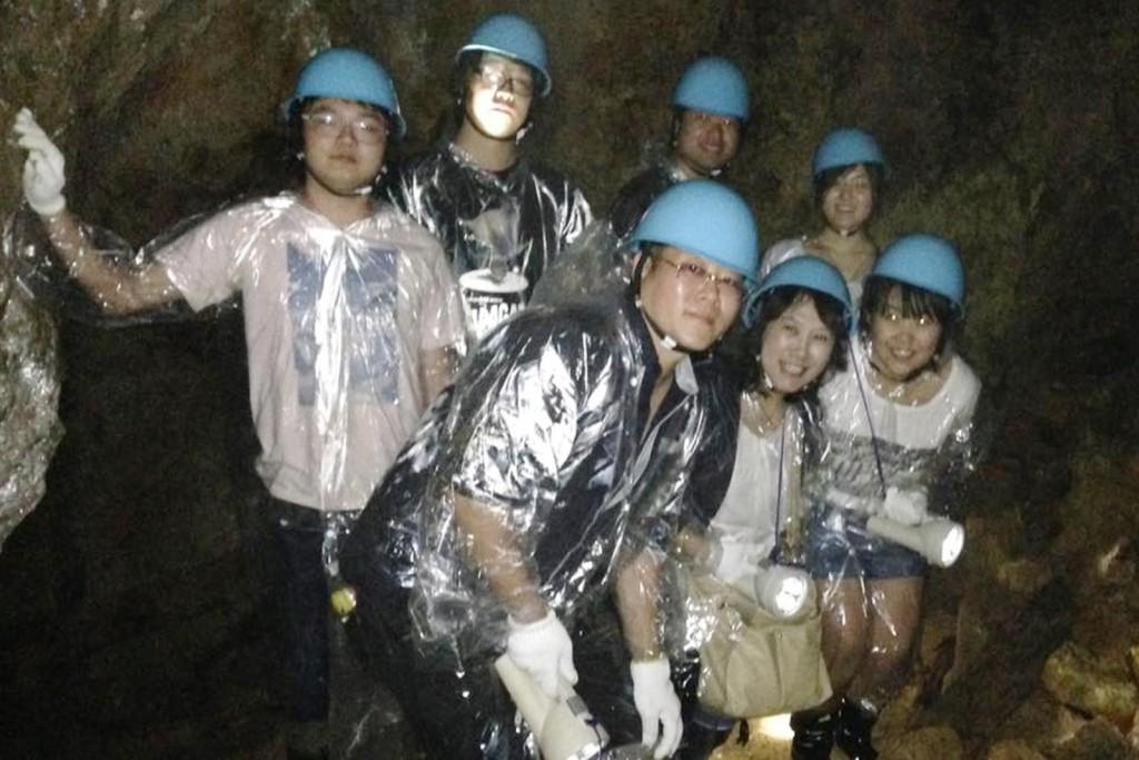 大切山坑にて、真っ暗闇の世界を体験しました