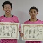 西日本学生バドミントン選手権で小川・柴田ペア(敬和学園大学)が準優勝!