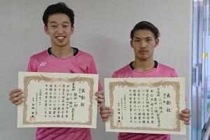男子ダブルス準優勝の小川さん・柴田さんペア