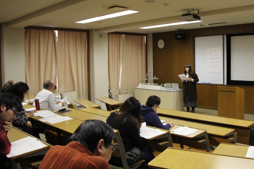 鈴木さんの卒業論文発表