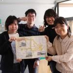 学生寮の学生たちが制作した「新発田駅前おすすめスポットMAP」が発行されました