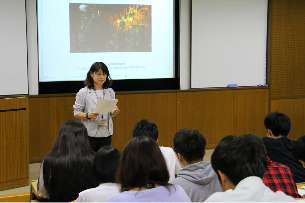 山﨑由紀先生「英語ニュースで世界を知ろう」
