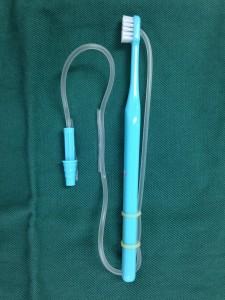 大学病院で手作りで使われていた歯ブラシ