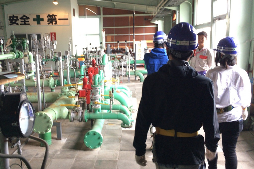 ガス管理の現場を見学させていただきました