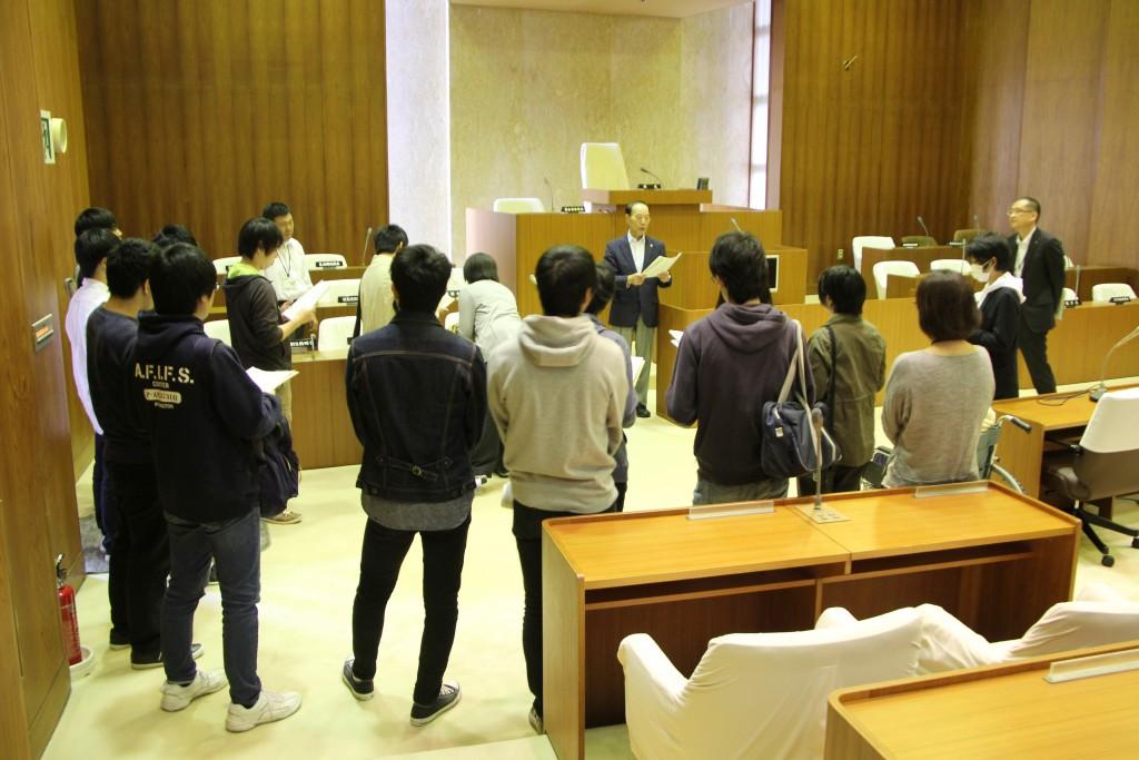 聖籠町議長の田村さまから直接説明をいただきました
