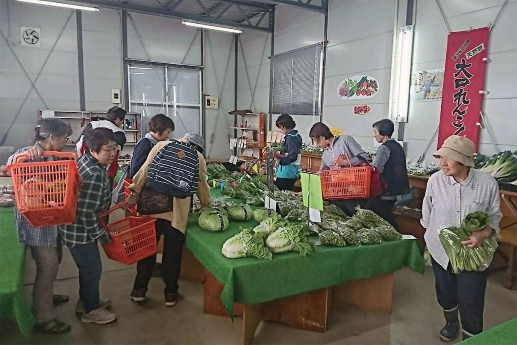 中之島の野菜直売所 ふれあい市