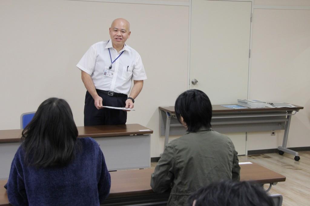 聖籠町で働く敬和学園大学の先輩のお話を伺いました