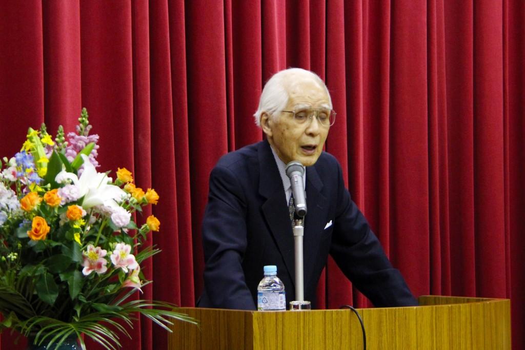 小和田恆先生から地域の皆さまにお話しいただきました
