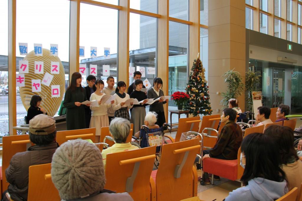 新発田病院さまの待合室に歌声が響きました