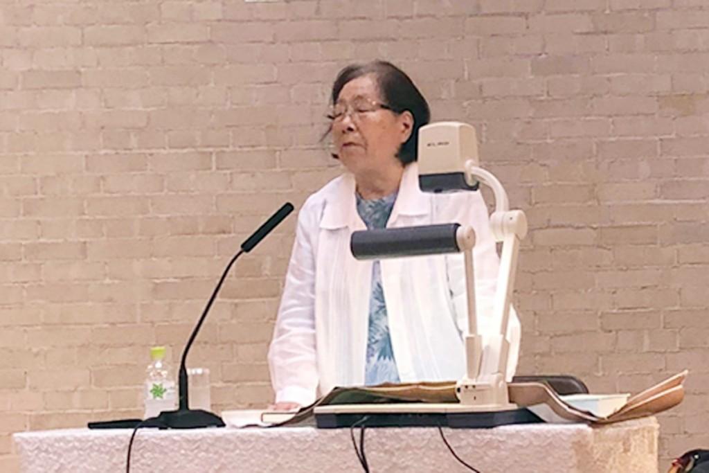 被爆者証言をお話ししてくださった嘉屋重順子先生