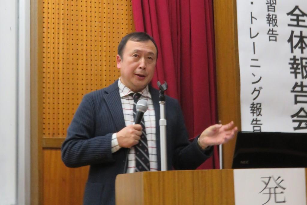共生社会学科長 趙先生からのお話