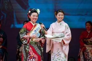 十日町きもの女王に選ばれた小杉真奈さん(敬和学園大学4年)