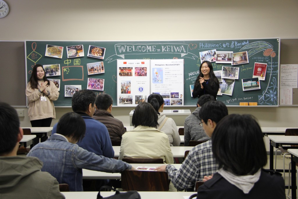キャンパスツアーの留学体験発表