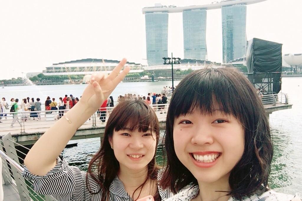 高校生の時に行ったシンガポールが好きで、今でもよく遊びに行きます