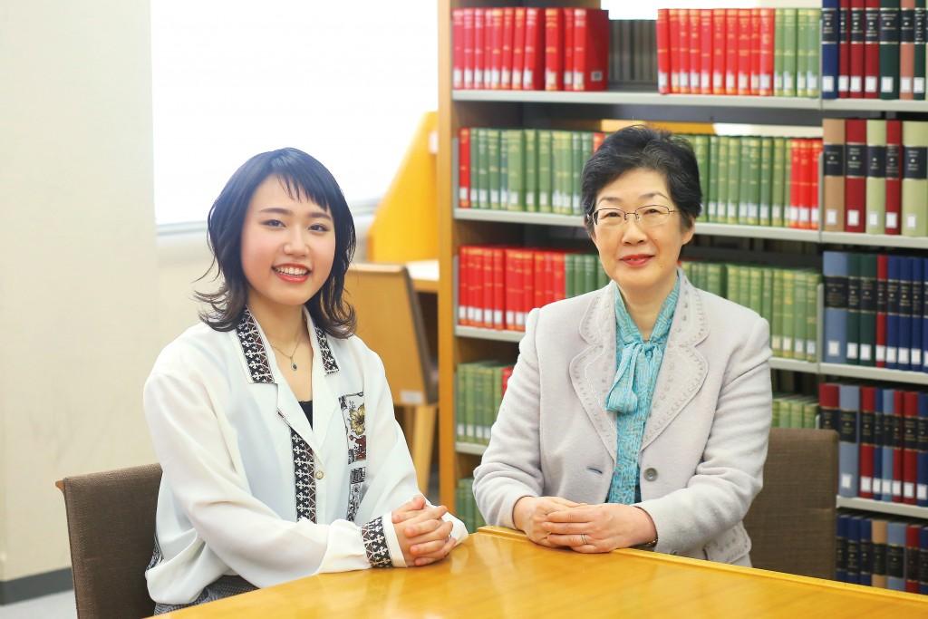 渡邉さんと桑原教授