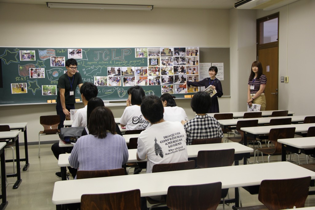 キャンパスツアーの活動発表(JCLP留学生支援)