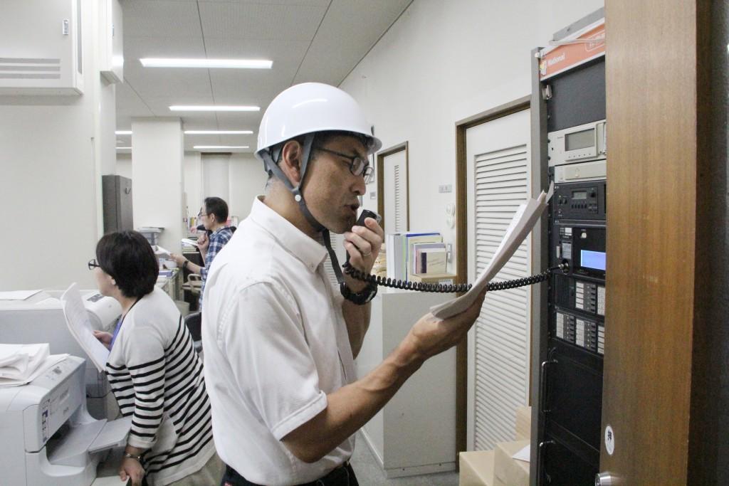 緊急放送により災害状況を共有します
