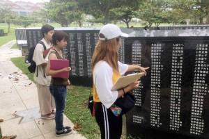 沖縄戦で亡くなられた方の名前が刻まれた「平和の礎」