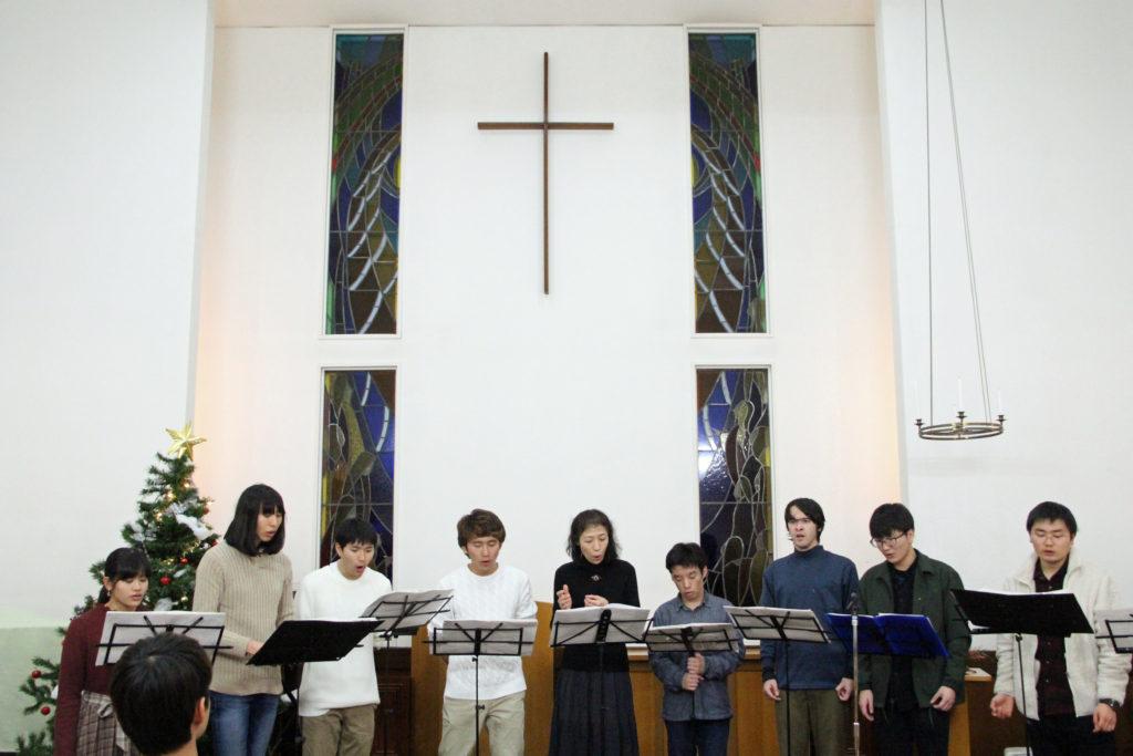 キャロリングの締めくくりは新発田教会さまで行いました