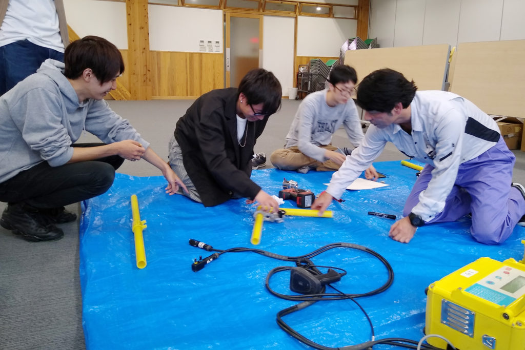 新発田ガスさま、ガス管融着を体験(10月11日)
