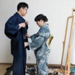 留学生が日本文化を体験、着物着付け体験を開催しました