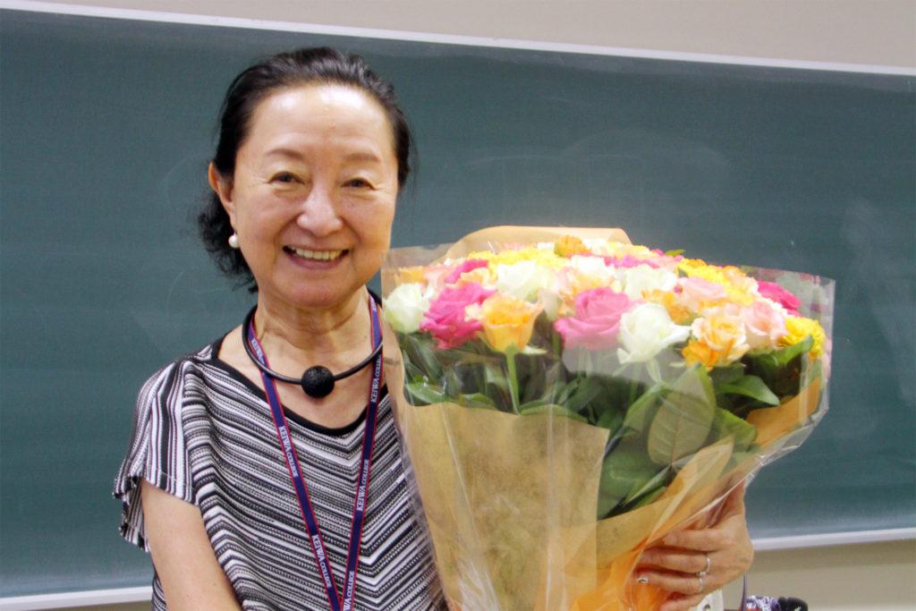 外山節子先生(2019年8月 児童英語教育サマーセミナーにて)