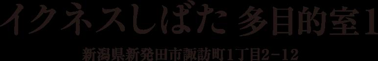 イクネスしばた 多目的室1 新潟県新発田市諏訪町1丁目2−12