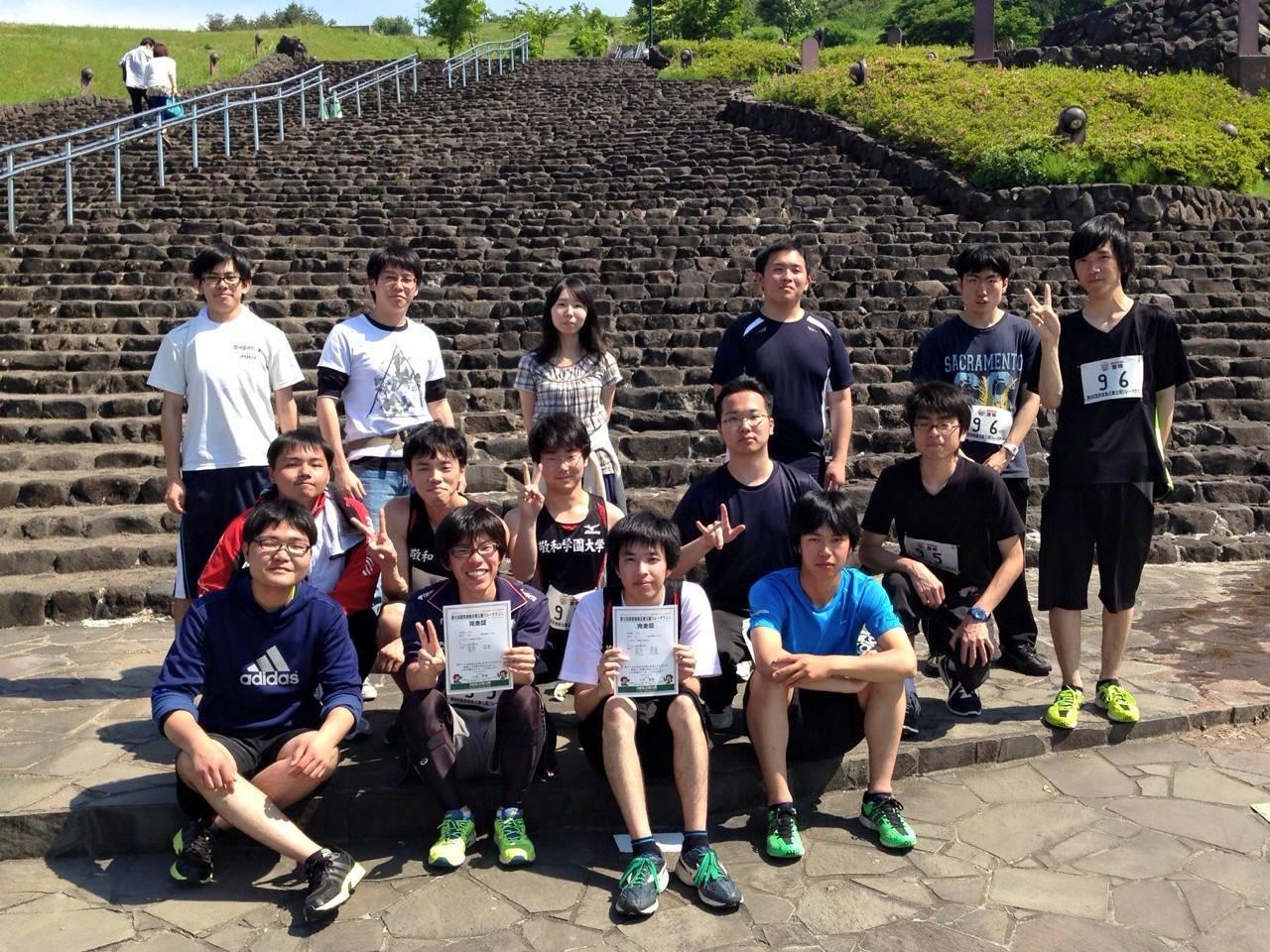 【サークル紹介】陸上競技部が長岡丘陵公園リレーマラソンに出場しました