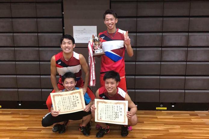 【敬和スポーツ】第59回西日本学生バドミントン選手権大会で小川・柴田ペアが優勝しました