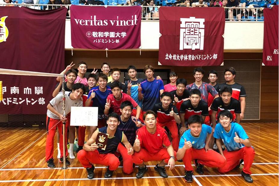 【敬和スポーツ】第59回西日本学生バドミントン選手権大会で男子団体準優勝しました