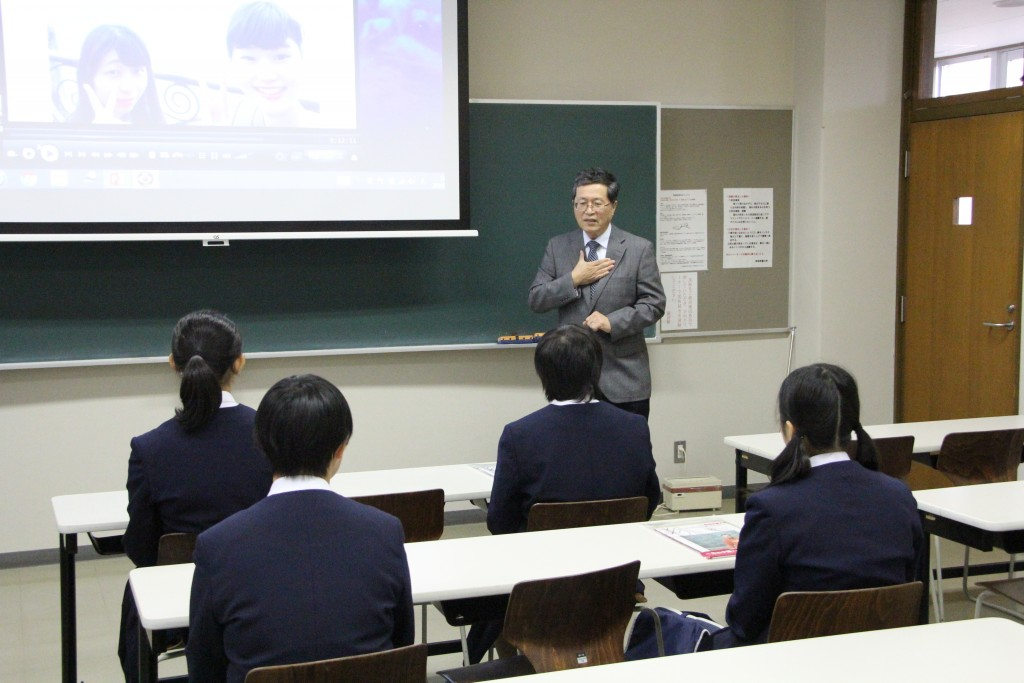 新潟市立東石山中学校3年⽣の皆さまが⼤学⾒学に来学されました