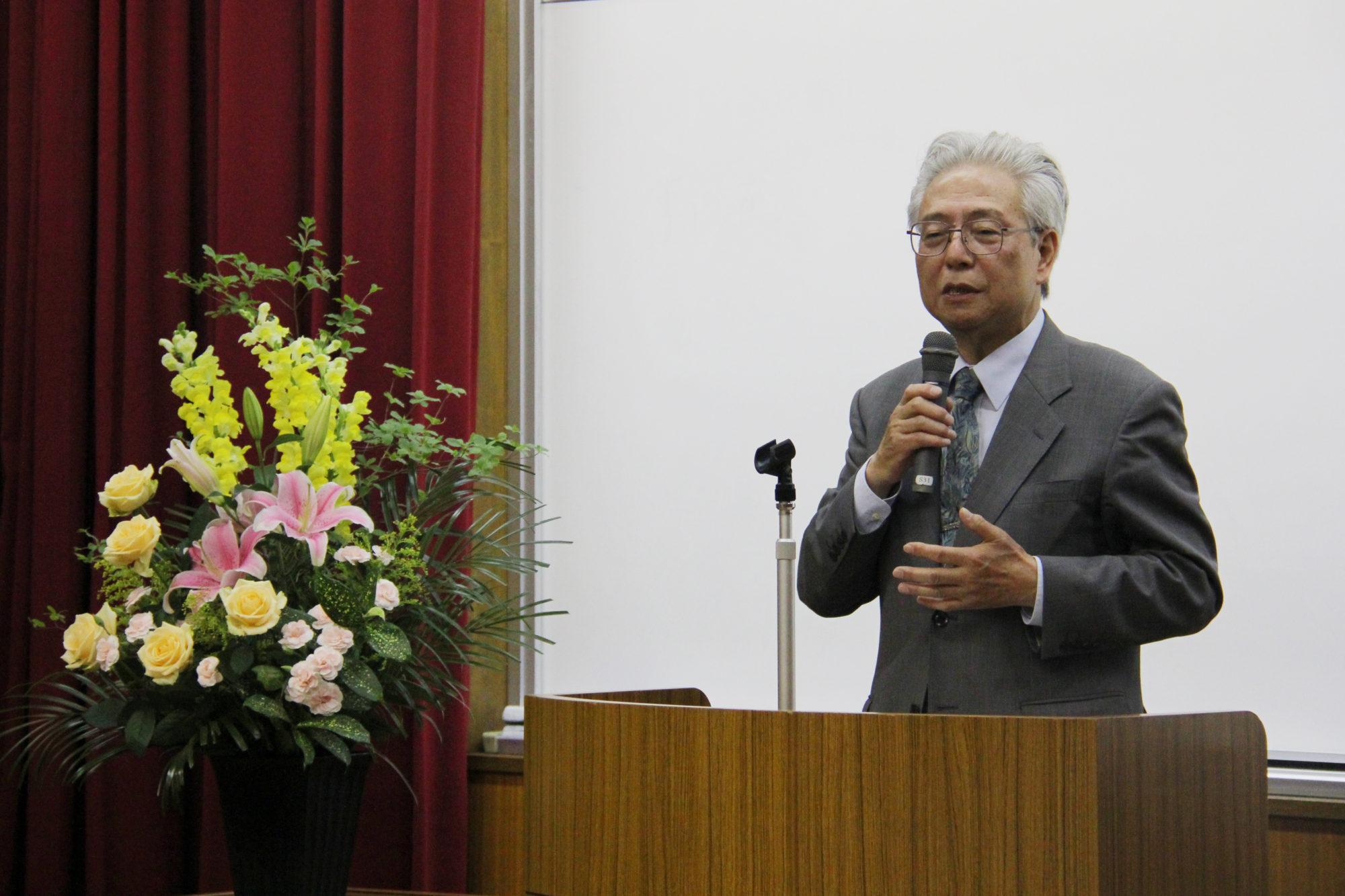 藤田英典先生をお招きし、25周年記念講演会を開催しました