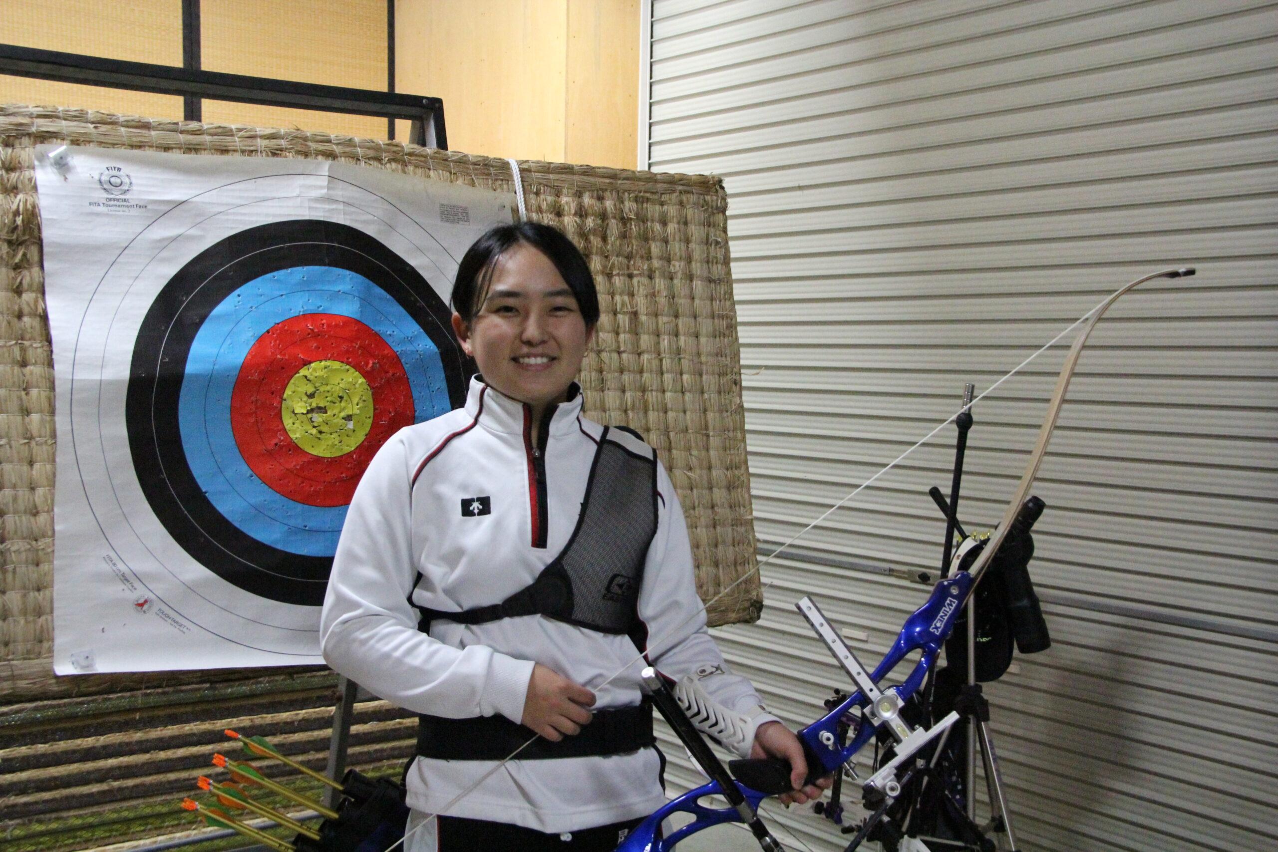 【敬和スポーツ】第39回北信越学生アーチェリー新人選手権大会の新人女子の部で優勝しました