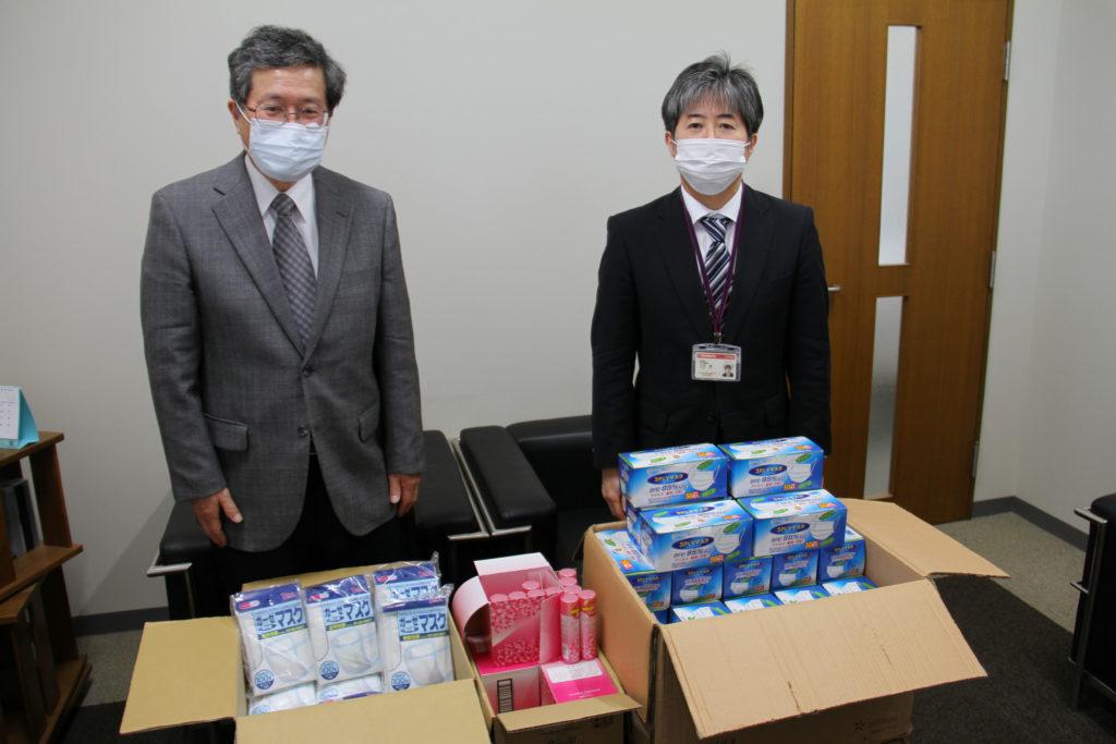 にいがた災害ボランティアネットワークさまよりマスクなどのご寄付をいただきました