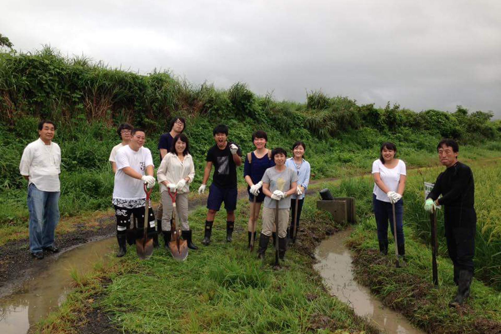 【ゼミ】佐渡島で朱鷺のビオトープづくりを行ってきました(房)
