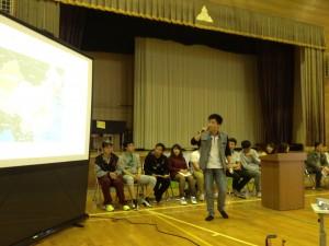 今年の「留学生と学生の交流会」は、粟島で行いました。